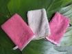Lot de gants de toilettes pour enfant couleur au choix