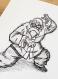 Dessin manga - tortue genial dragon ball