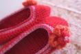 Chaussons ballerines à fleurs crochetées