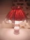 Lampe shabby rose et blanche