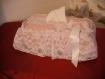 Boite a mouchoirs shabby rose et blanche