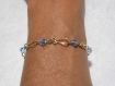 Bracelet swarovski plaqué or light sapphire