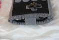 Housse portable manette en feutrine grise et boutons en fimo