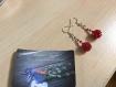 Boucles d'oreilles - couleur rouge (creative beads)