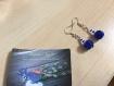 Boucles d'oreilles - couleur bleue (creative beads)