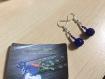 Boucles d'oreilles - couleur belue,noire (creative beads)