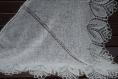 03 ÉlÉgante chÂle tricotÉ main. chale pour la mariÉ coloris ivoire