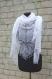 04 ÉlÉgante chÂle de tricot tricotÉ main. chale pour la mariÉ coloris blanc