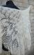 05 ÉlÉgante chÂle tricotÉ main. chale pour la mariÉ coloris ivoire alpaga