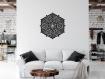 3d décoration murale ajourée , marocain mandala, rosette, 60 cm, panneau décoratif, peinture en bois, décoration de salon, style marocain, décoration murale orientale, ornement