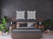 3d décoration murale ajourée, arabesque, style marocain, 60 cm, panneau décoratif, peinture en bois, décoration de salon, décoration murale orientale, ornement