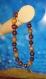Bracelet en perles naturelles 6 mm : bois de noisetier, acajou et bois foncé