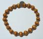 Bracelet en perles naturelles 6 mm : bois de noisetier