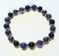 Bracelet en perles naturelles 6mm : onyx, améthyste, hématite, obsidienne et sodalite