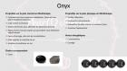 Bracelet en perles naturelles 6 mm : onyx