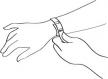 Bracelet en perles naturelles 6 mm : jaspe picasso