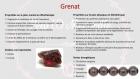 Bracelet en perles naturelles 6 mm : grenat et verre de bohèmes (rubis grenat à facettes)