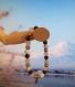Bracelet en perles naturelles 6mm : quartz rose, onyx et howlite