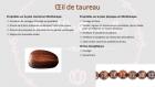 Bracelet en perles naturelles 6 mm : œil de taureau