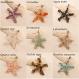Bougie bijou décoration fleurs séchées immortelles pendentif étoile labradorite