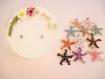 Bougie bijou décoration fleurs séchées immortelles pendentif étoile quartz
