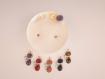 Bougie bijou décoration fleurs séchées pendentif chat pierres semi précieuse améthyste