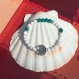 Bracelet en howlite et chrysocolle
