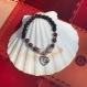 Bracelet en  jaspe rouge, rhodonite et pierre de lave