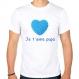 T-shirt je t'aime papa