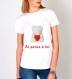 T-shirt 100% coton, nounours mignon je pense à toi pour femme