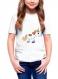 T-shirt 100% coton pour enfant licorne multicolore mignon