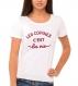 T-shirt 100% coton pour femme
