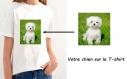 T-shirt avec votre chien