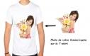 T-shirt 100% coton personnalisable avec la photo de votre femme/copine