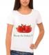 T-shirt envie de fraises pour femme