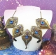Purple crystal baroque necklace