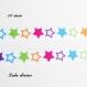 Ruban gros grain blanc à étoile multicolore de 10 mm vendu au mètre
