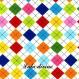 Coupon tissu robert kaufman losanges / carreaux de 54 x 45 cm