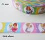 Ruban gros grain multicolore effet portrait petits personnages de 25 mm vendu au mètre