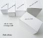 Boite / emballage de carton blanc : mix de 5 tailles de boite