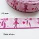 Ruban gros grain rose souris ballerine de 25 mm vendu au mètre