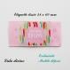 Etiquette tissée  - créé pour moi -  28 x 60 mm, rose