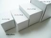 Boite / emballage de carton blanc : taille 5 x 5 x 7 cm : 5 boites