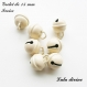 Grelot de 15 mm / clochette de 15 mm : ivoire