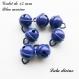 Grelot de 15 mm / clochette de 15 mm : bleu marine