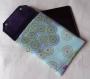Housse de tablette de 8 à  pouces turquoise à grands motifs floraux
