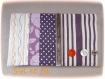 Porte-chéquier, porte-carte rayé violet orange
