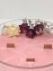 Bougie avec fleurs séchées, cire de soja, vegan, naturelle 350 gr de cire