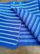 Gilet à fermeture dans le dos - rayé bleu