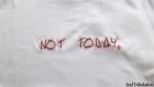 T-shirt not today, pas aujourd'hui brodé à la main